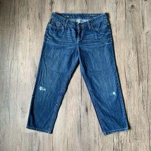 Eddie Bauer Cropped Boyfriend Jeans